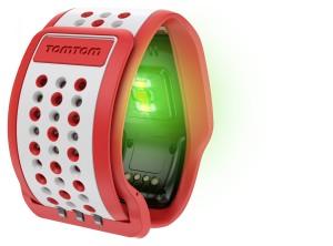 TomTom Runner Cardio_Rot-Weiß_Sensor